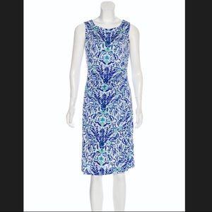 NWOT Tory Burch Blue Silk Akira Print Sleeveless